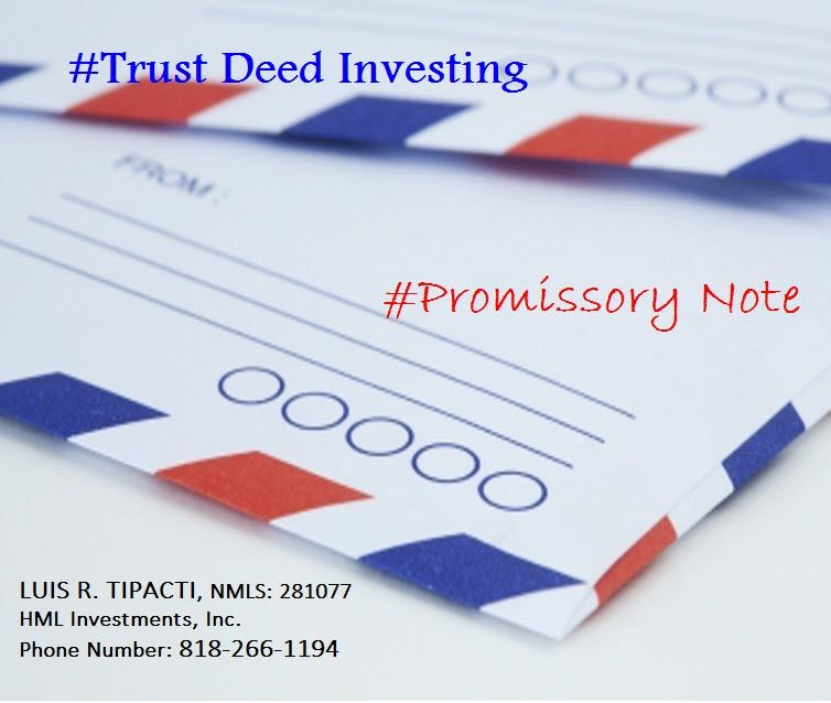 Residential real estate is used to back up trust deed investments - promissory note parties