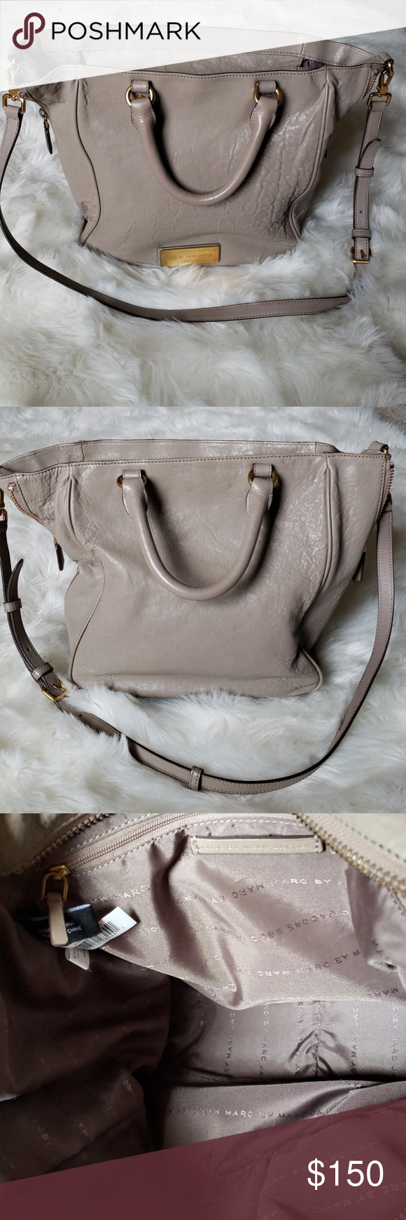 5764c4cafd Marc By Marc Jacobs beautiful leather handbag Marc By Marc Jacobs beautiful  100% lamb leather in excellent condition. - Color: Taupe - Gold hardware.
