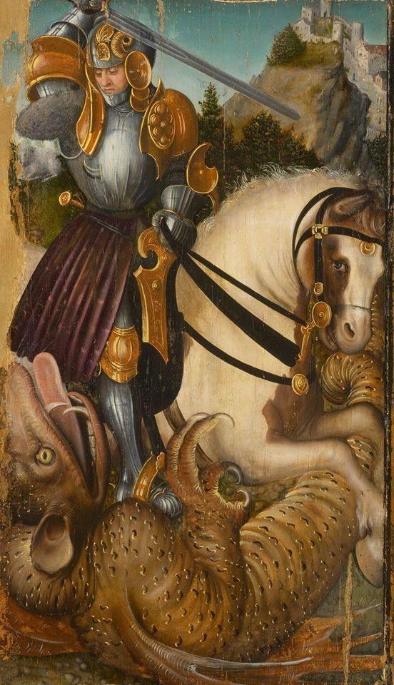 Lucas Cranach (1472 - 1553) - St. George Slaying the Dragon - 1510-20. Kunsthistorisches Museum, Gemäldegalerie.