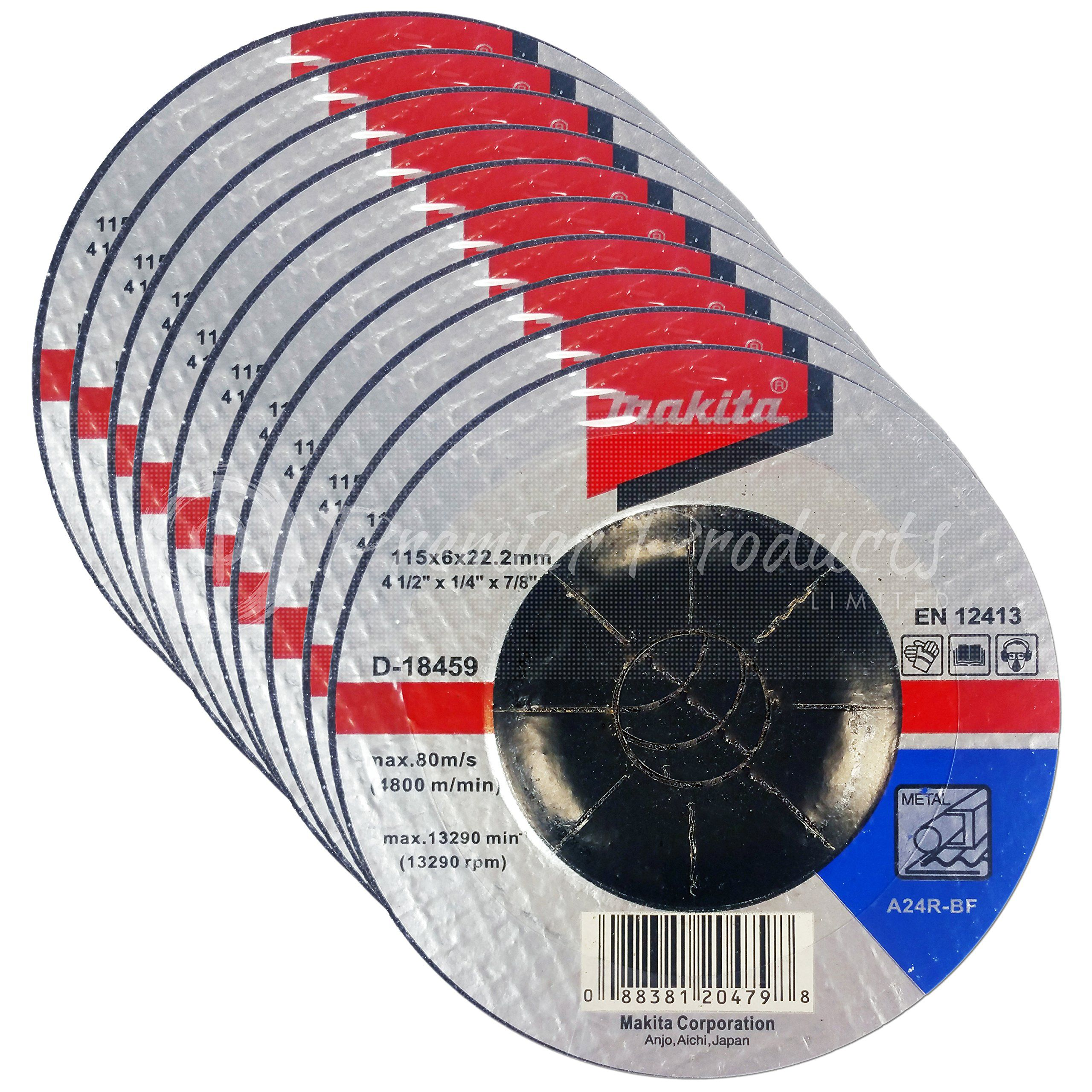 Makita 10 Pack 4 5 Grinding Wheel For Grinders Aggressive Grinding For Metal 4 1 2 X 1 4 X 7 8 Inch Grinding Pack Makita Makita Metal Aggressive