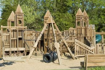 Wood Castle Playground Google Search Nature Play Spaces Jungle
