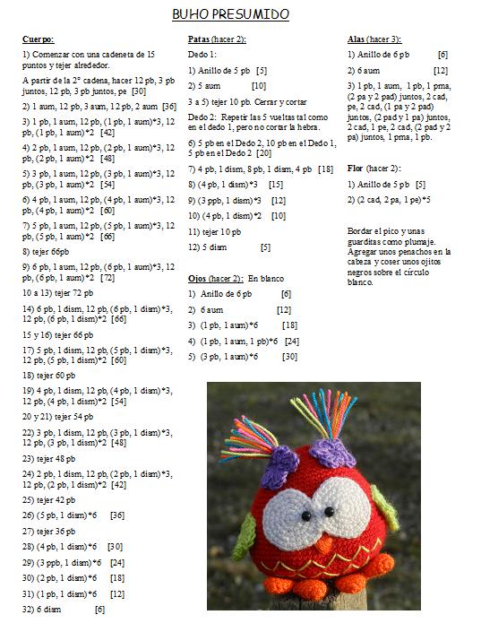 daxa rabalea: Buhos presumidos + patrón | crochet | Pinterest ...