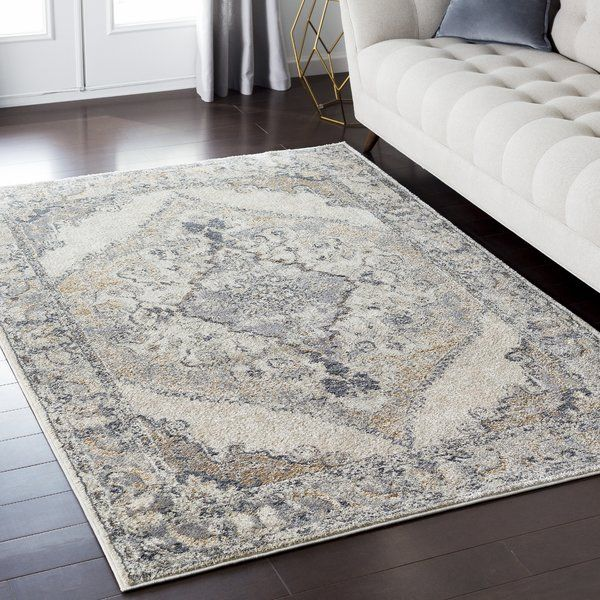 Ready To Stand Up To High Foot Traffic In The Entryway And Take On Occasional Spills Under The Kitchen Table Poly Blue Gray Area Rug Area Rugs Brown Area Rugs