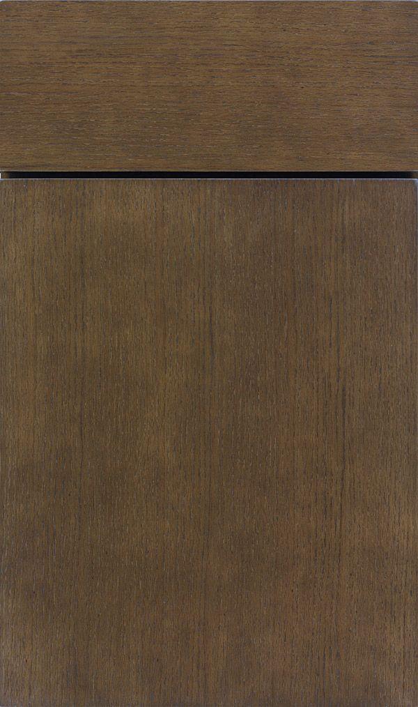 Della Quartersawn Oak Slab Cabinet Door In Kindling