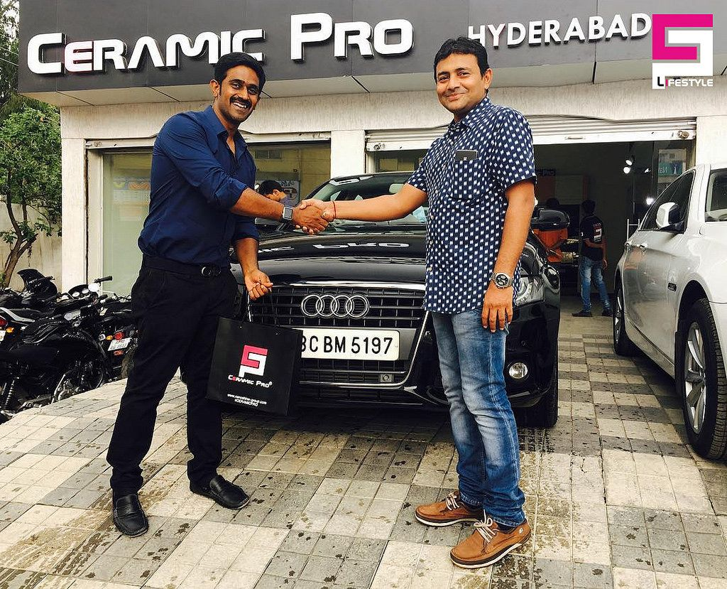 Ceramic Pro Hyderabad Audi A4 2010 Being Protected By Ceramic Pro 9h Gold Package Which Came Down All The Way From Bellary By Arvind Jain Bro Audi A4 Audi Paint Protection