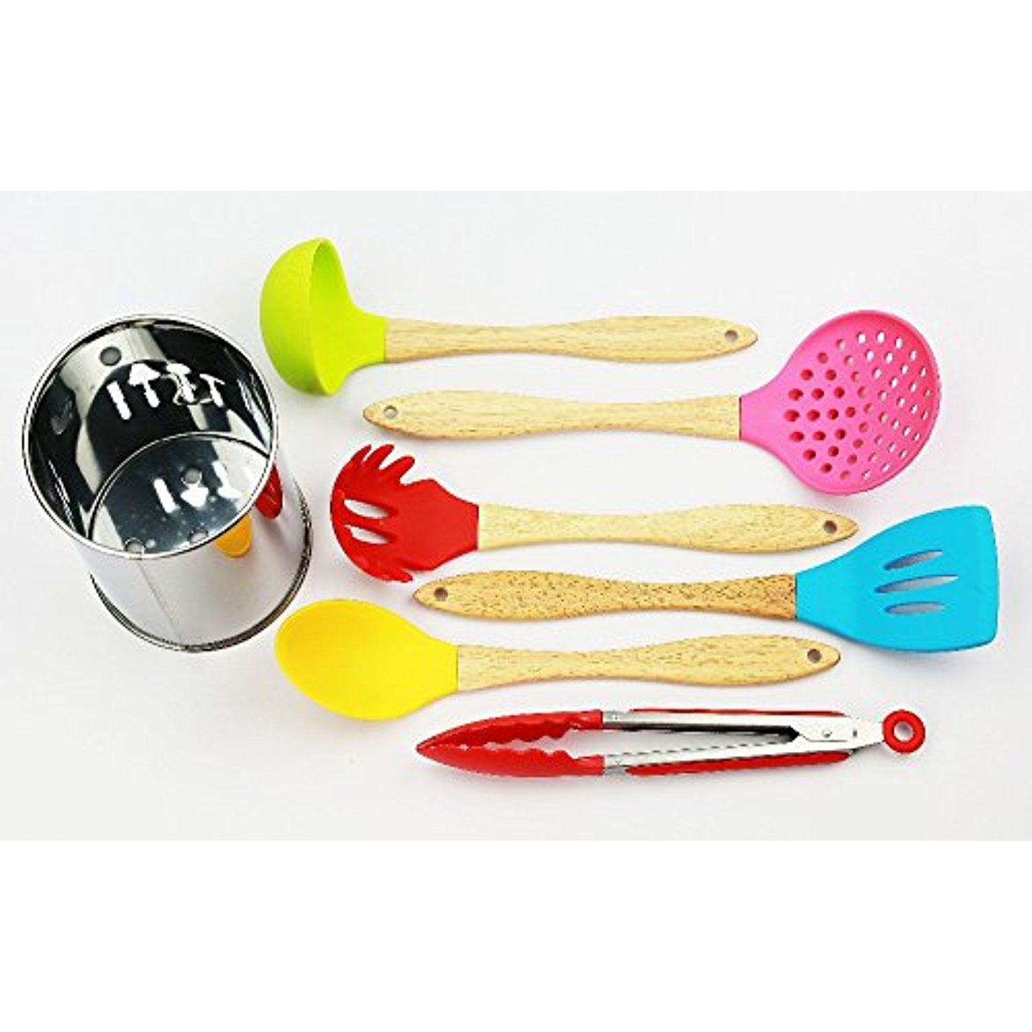 6pcs Silicone Kitchenware With Holder Cooking Tools Kitchen