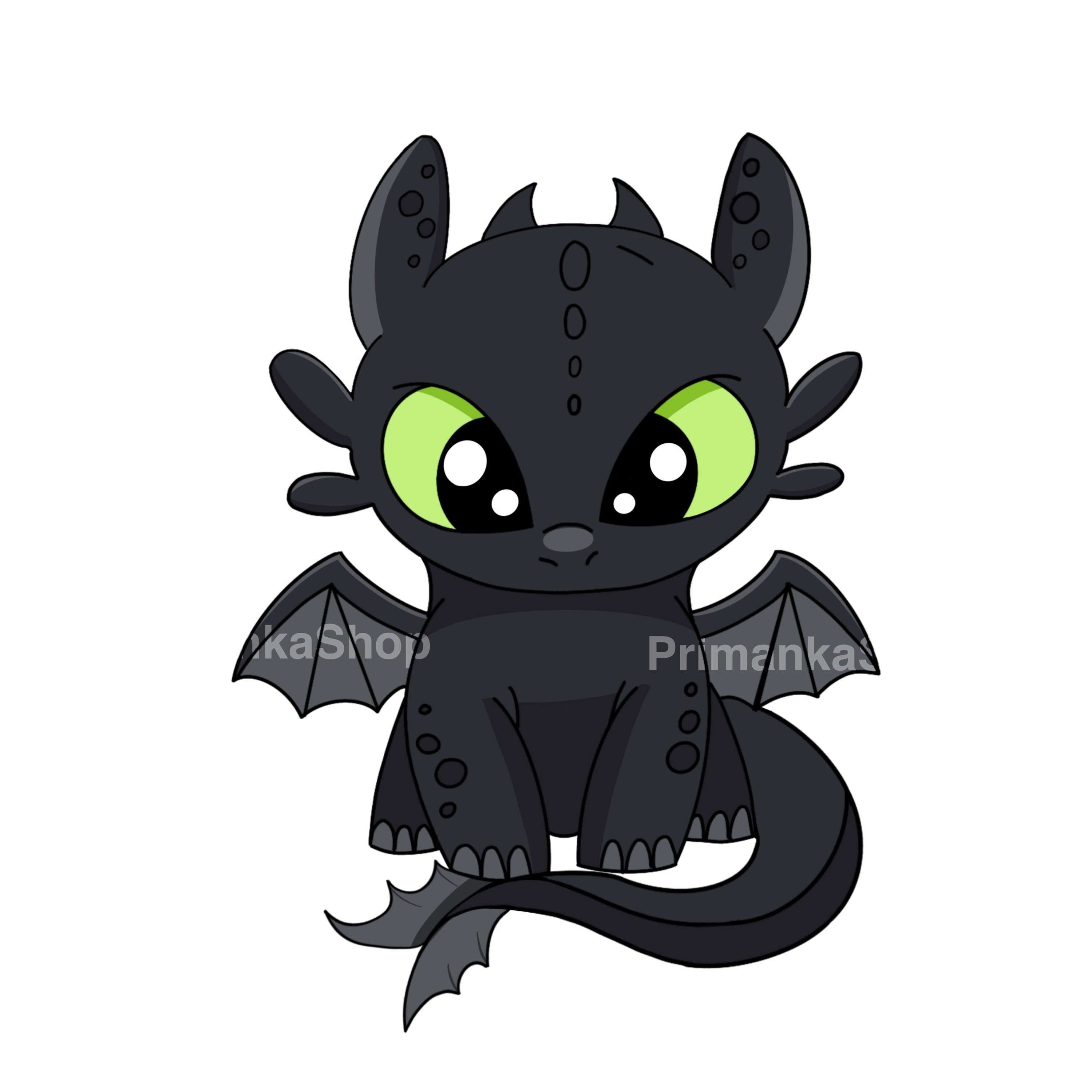 Png Toothless Light Fury How To Train Your Dragon Etsy Cartoon Dragon How Train Your Dragon Baby Dragon