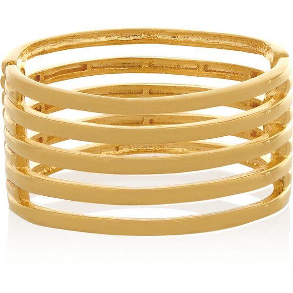 Kenneth Jay Lane Braid Design Cuff Bracelet Gold nIGp9Xy9