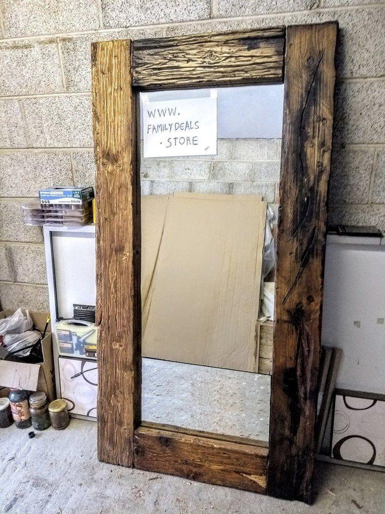 Gorgeous Full Length Reclaimed Wood Frame Floor Mirror Rustic Floor Mirrors Reclaimed Wood Mirror Rustic Flooring