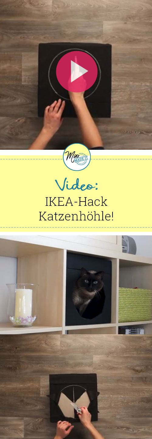 ikea hack gib deinen katzen eine neue kuschelh hle ikea hacks. Black Bedroom Furniture Sets. Home Design Ideas