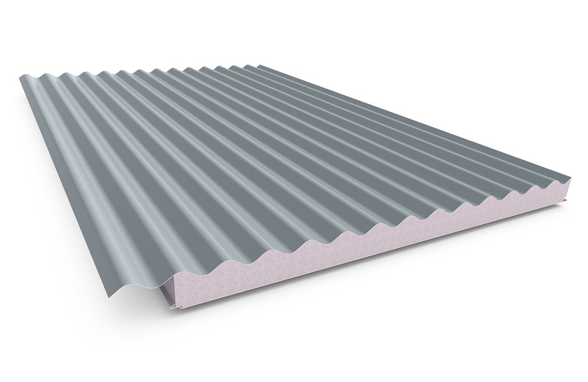 Cooldek® Corrugated Roof colors, Insulation thickness