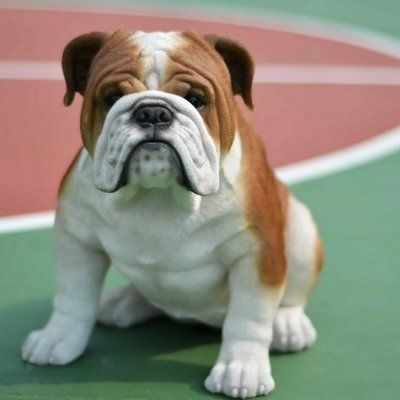 Hi Line Gift Ltd Sitting Sleepy Bulldog Puppy Statue Bulldog