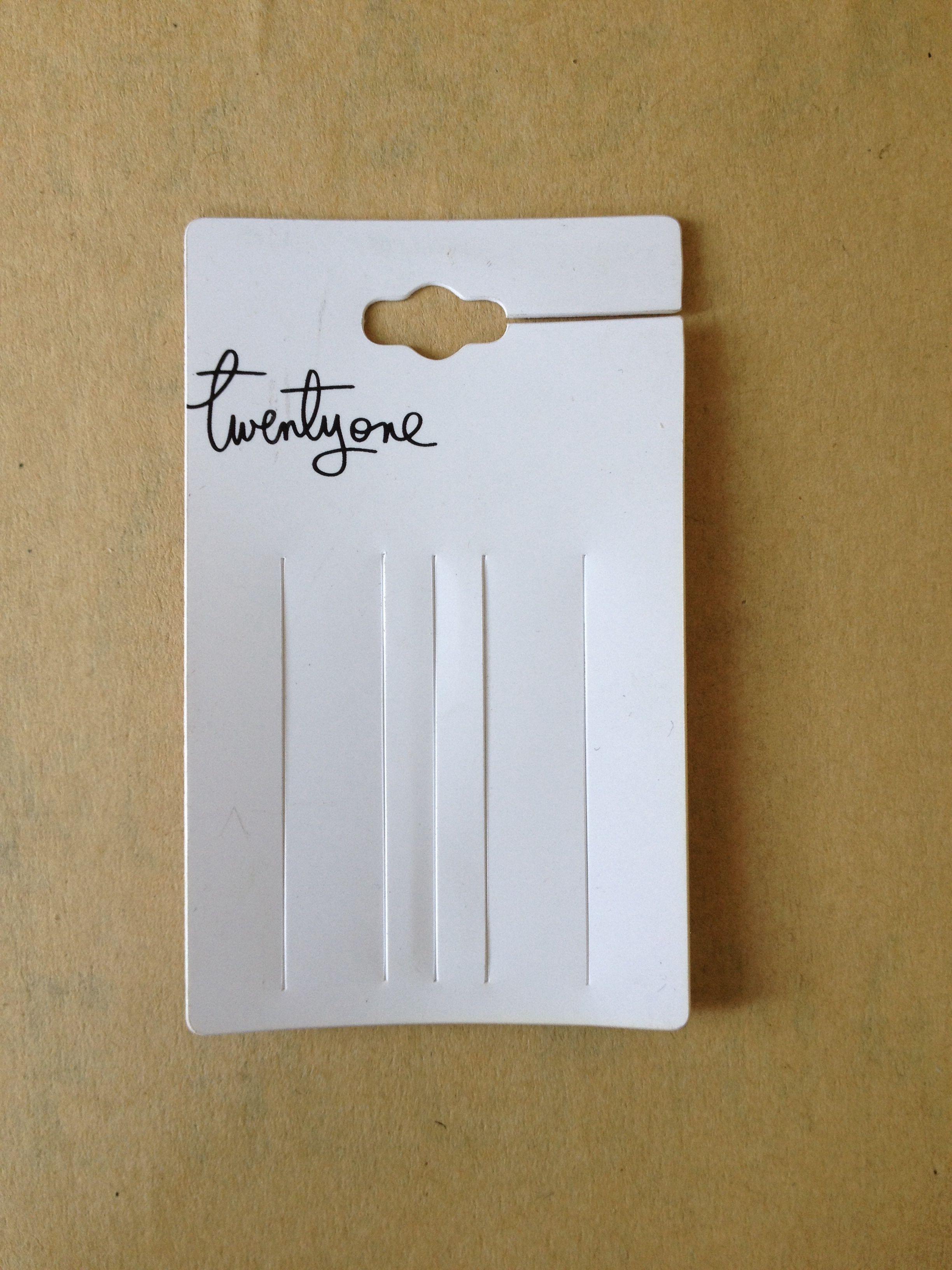 Earring Tags Plastic Material