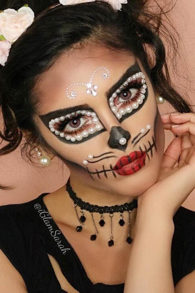 36 Best Sugar Skull Makeup Of This Season Halloween Makeup Sugar Skull Sugar Skull Makeup Skull Makeup