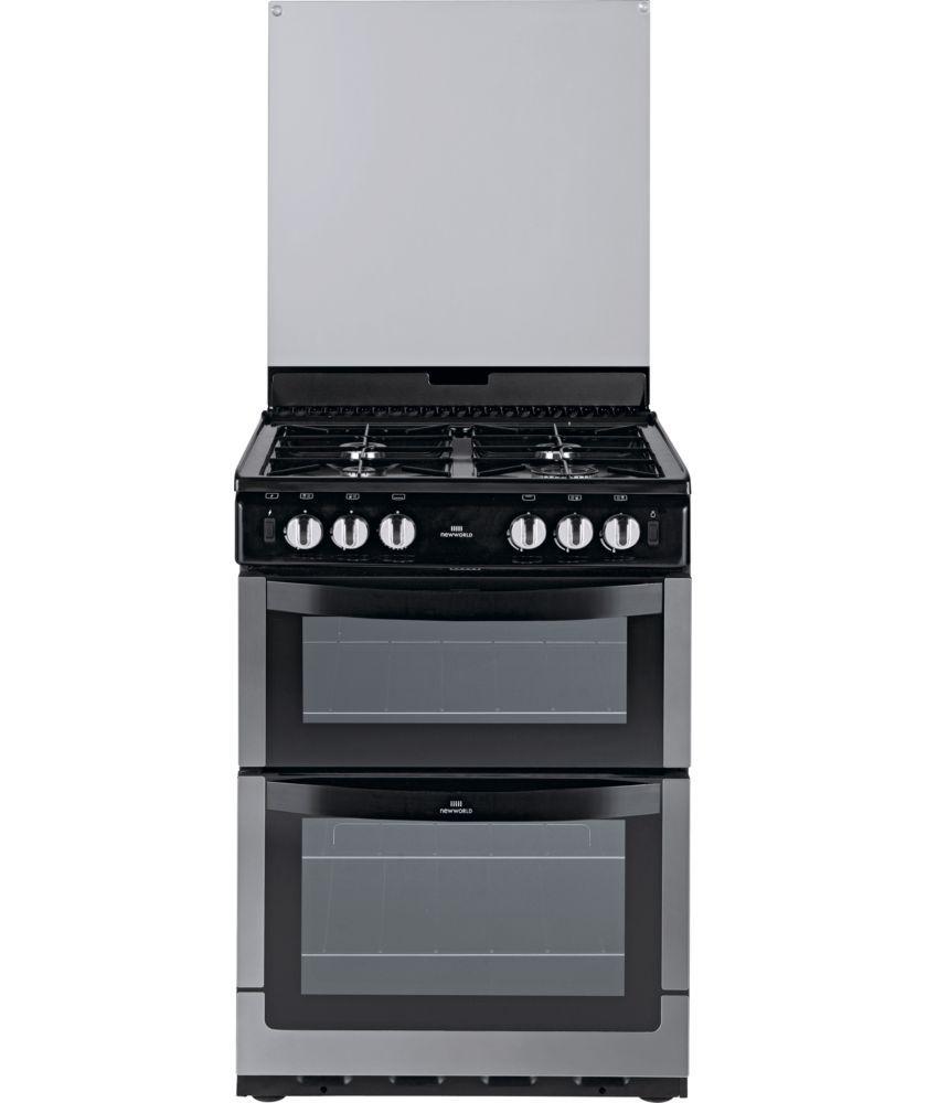 New World Kitchen Appliances Buy New World 601gdolss Double Gas Cooker S Steel At Argoscouk