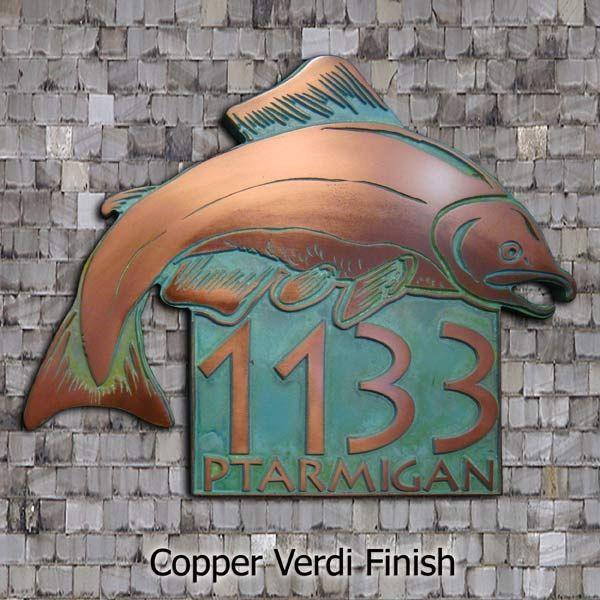 Salmon Fish Address Plaque