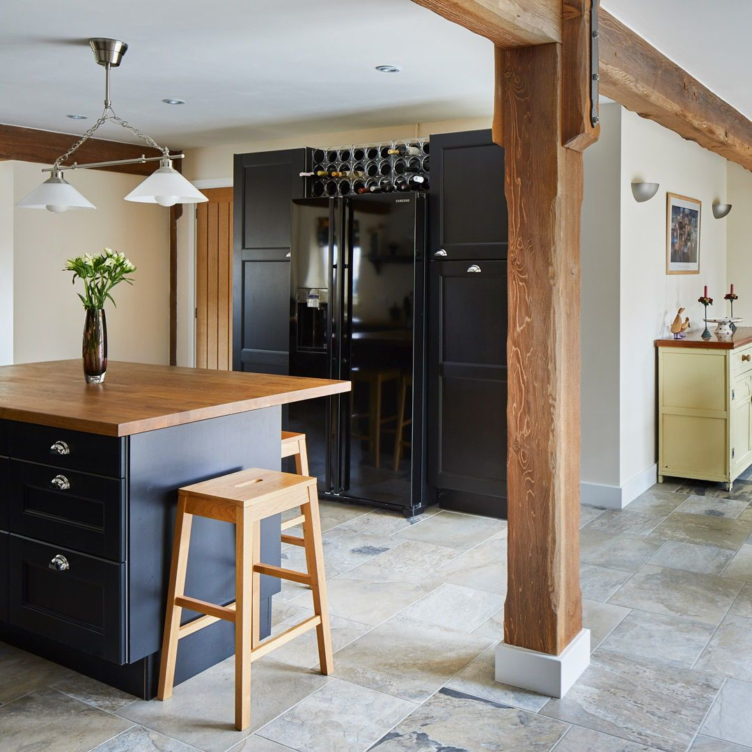 Dark Grey And Oak Kitchen In English Country Cottage In Self Build Home By Potton Self Build Sp Country House Design Self Build Houses Cottage House Designs