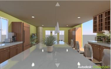 Panorama 3D cuisine