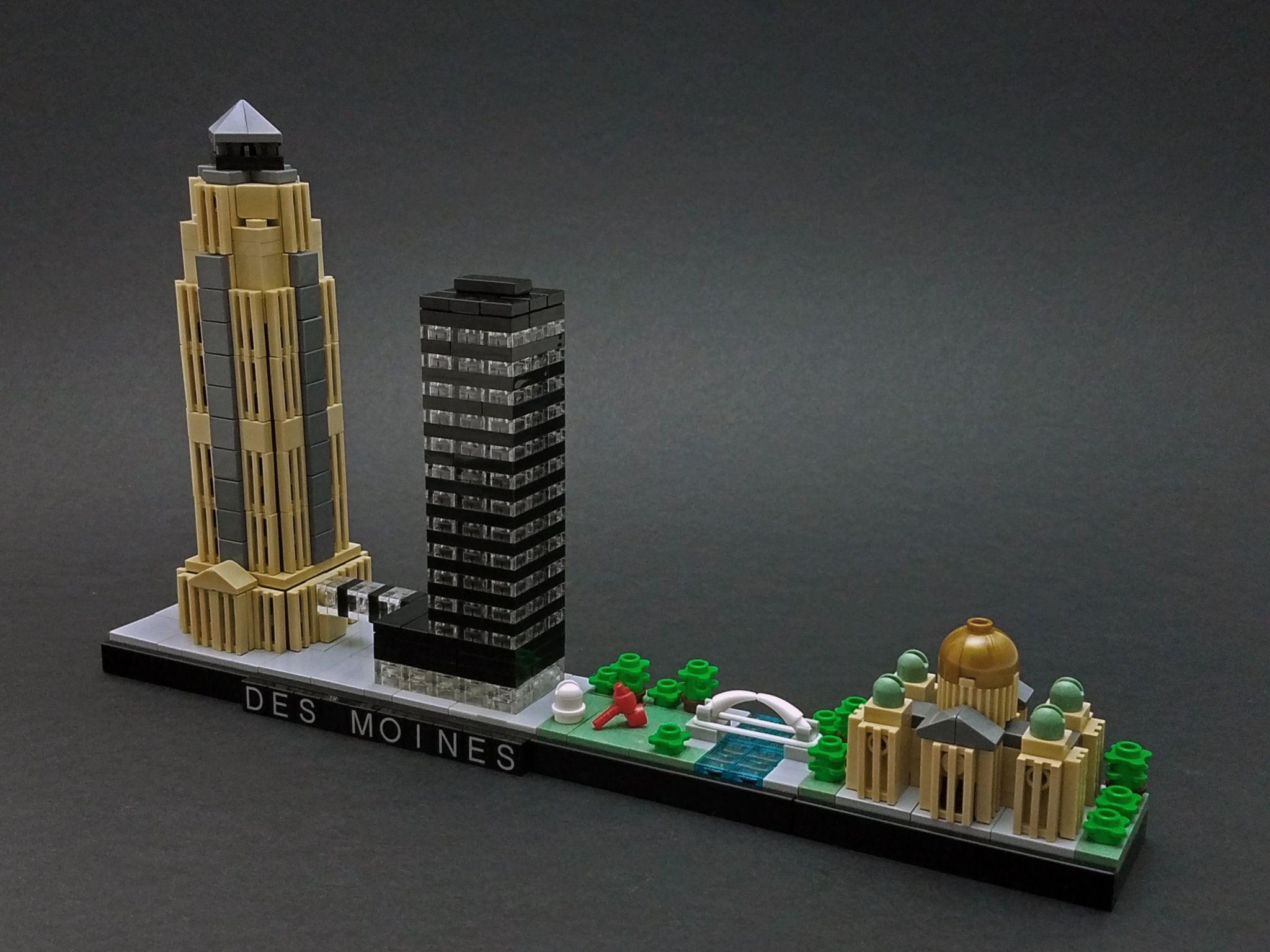 Https://flic.kr/p/WuHpQZ | Des Moines Skyline | Built For The Rebrick  Skyline Contest. Featuring (left To Right) 801 Grand, The Ruan Center (with  An Example ...