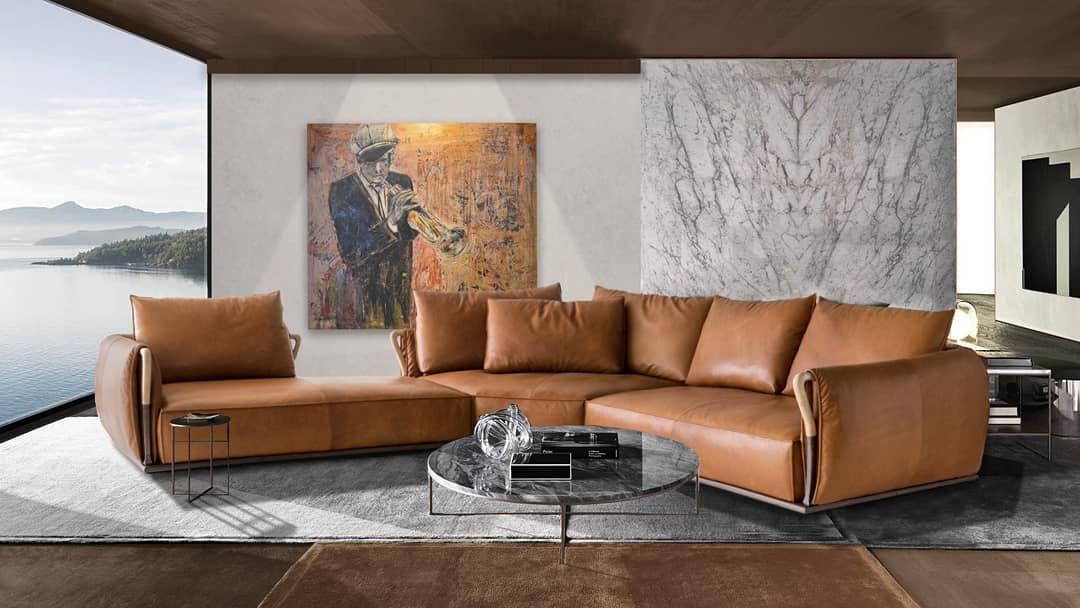 Aforsima Designer Leather Sofa Features The Best Of Italian Craftsmanship With Its Unique Arms Des Leather Sectional Sofas L Shaped Leather Sofa Sectional Sofa