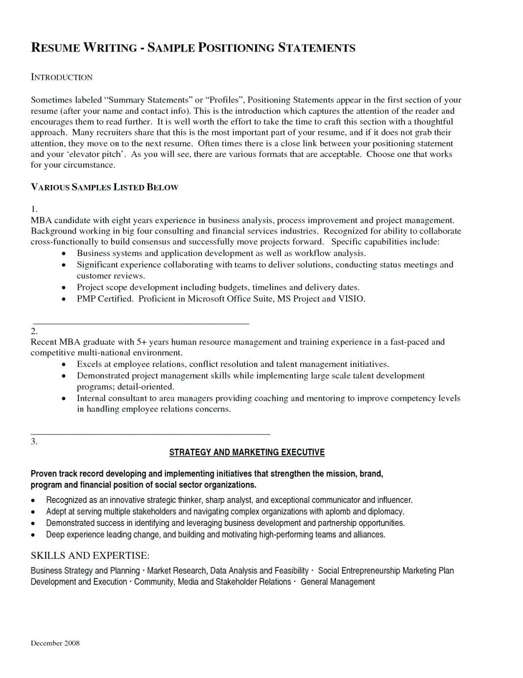 019 Project Executive Summary Samples Template Ideas