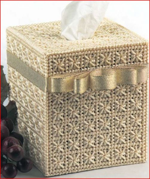 Free Knitting Pattern Tissue Box Cover Cozy Haken