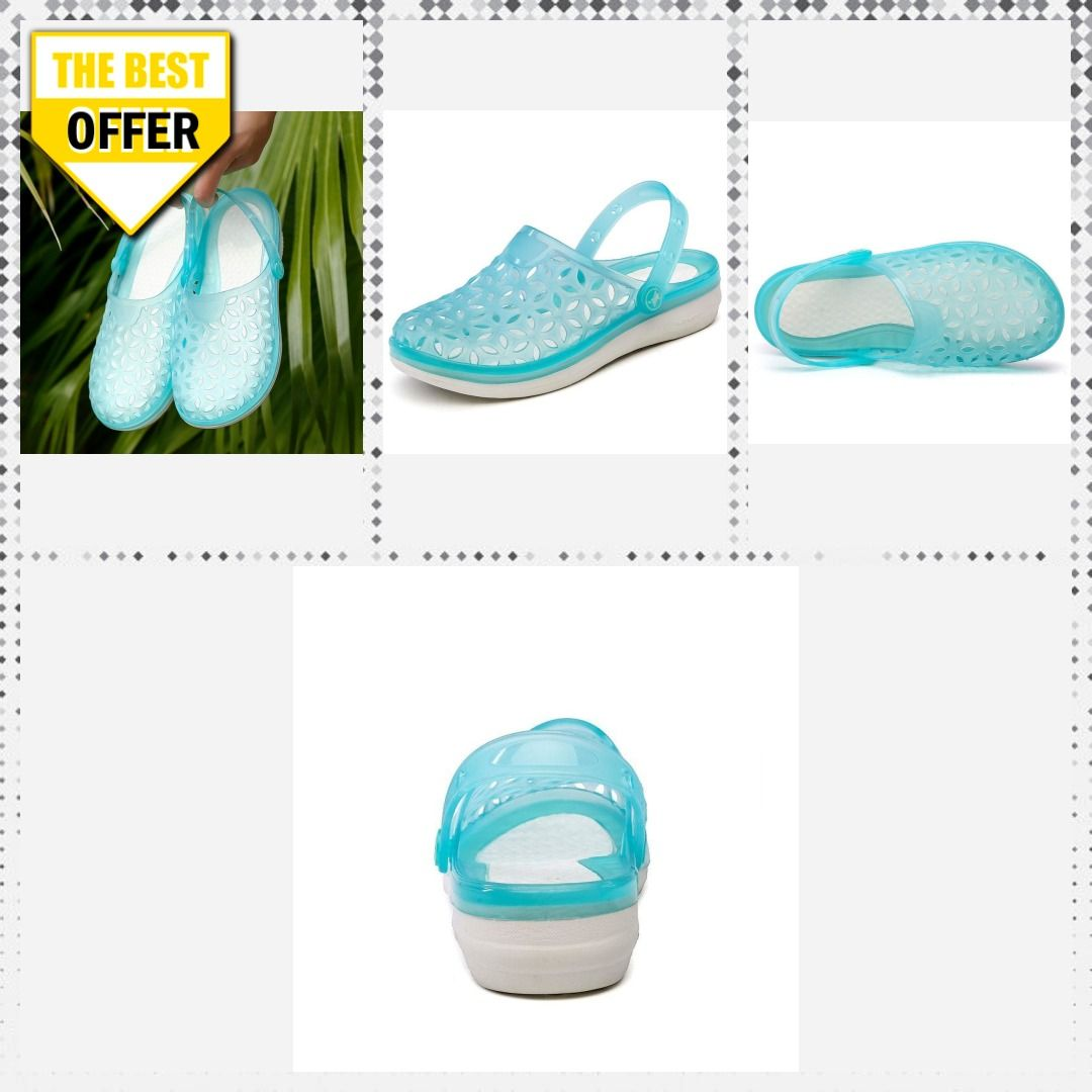5b2bb203e044 Hole Clogs Women Beach Slippers Summer EVA Sandals Beach Shoes Mules Flip  Flops Garden Fashion Breathable Hollow Jelly Shoes  womensclothing   promdresses ...