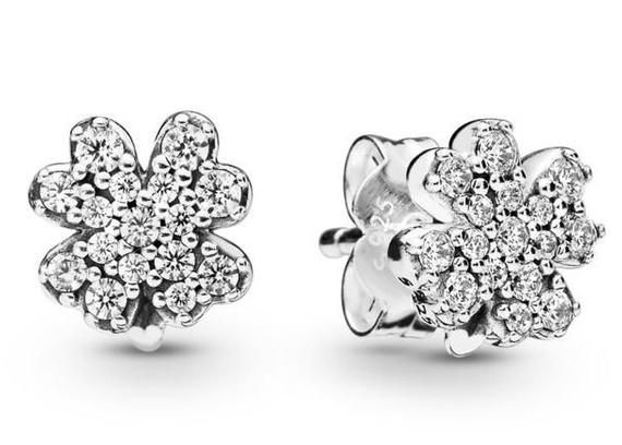 d50537e2c Pandora, Radiant Clover, Earrings, Studs, LUCK, Clear CZ, Silver, 925 ALE,  4 Leaf Clover, Spring 2019, 297944CZ #Silver #Studs #ClearCz #RadiantClover  ...