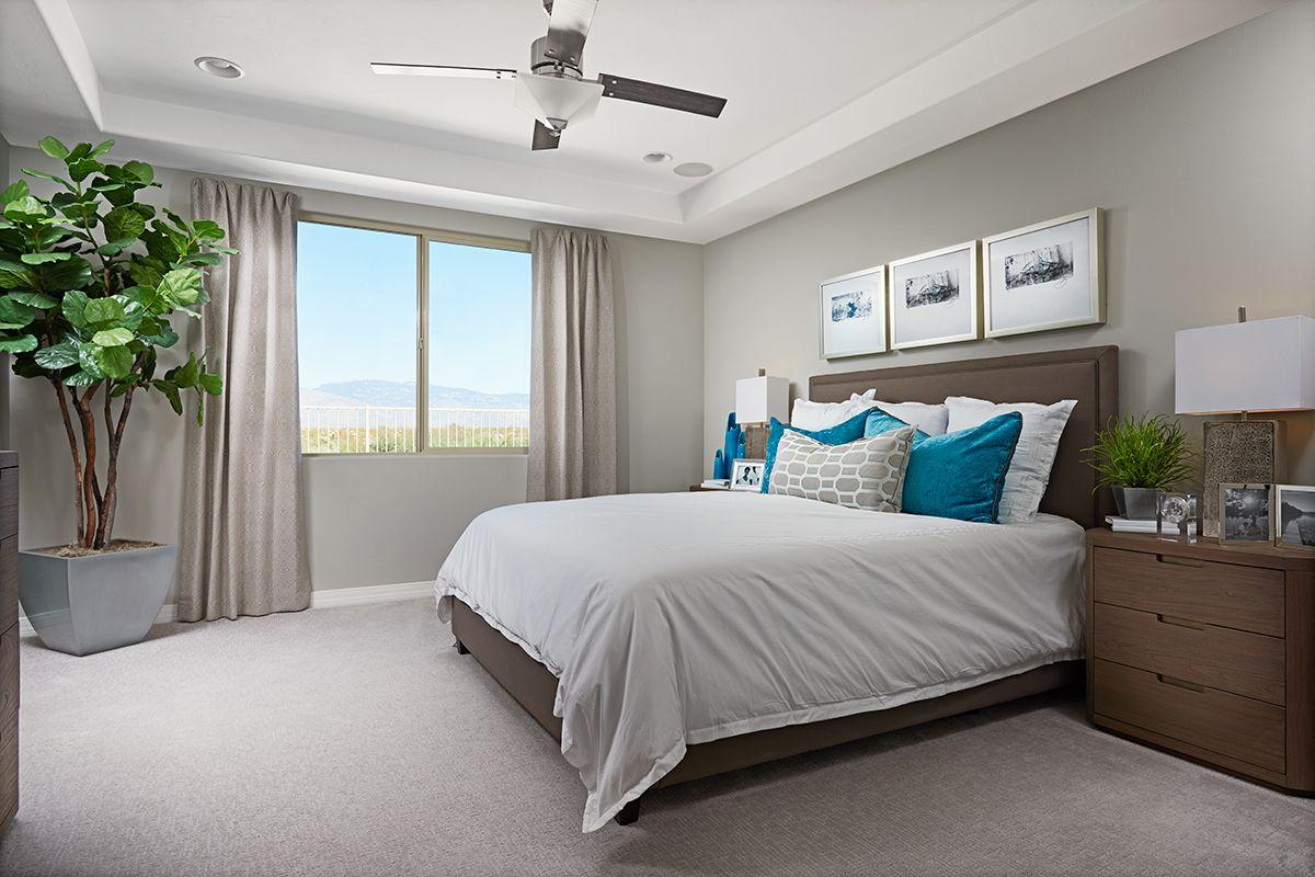 Elegant tray ceiling   Raleigh model home master bedroom ...