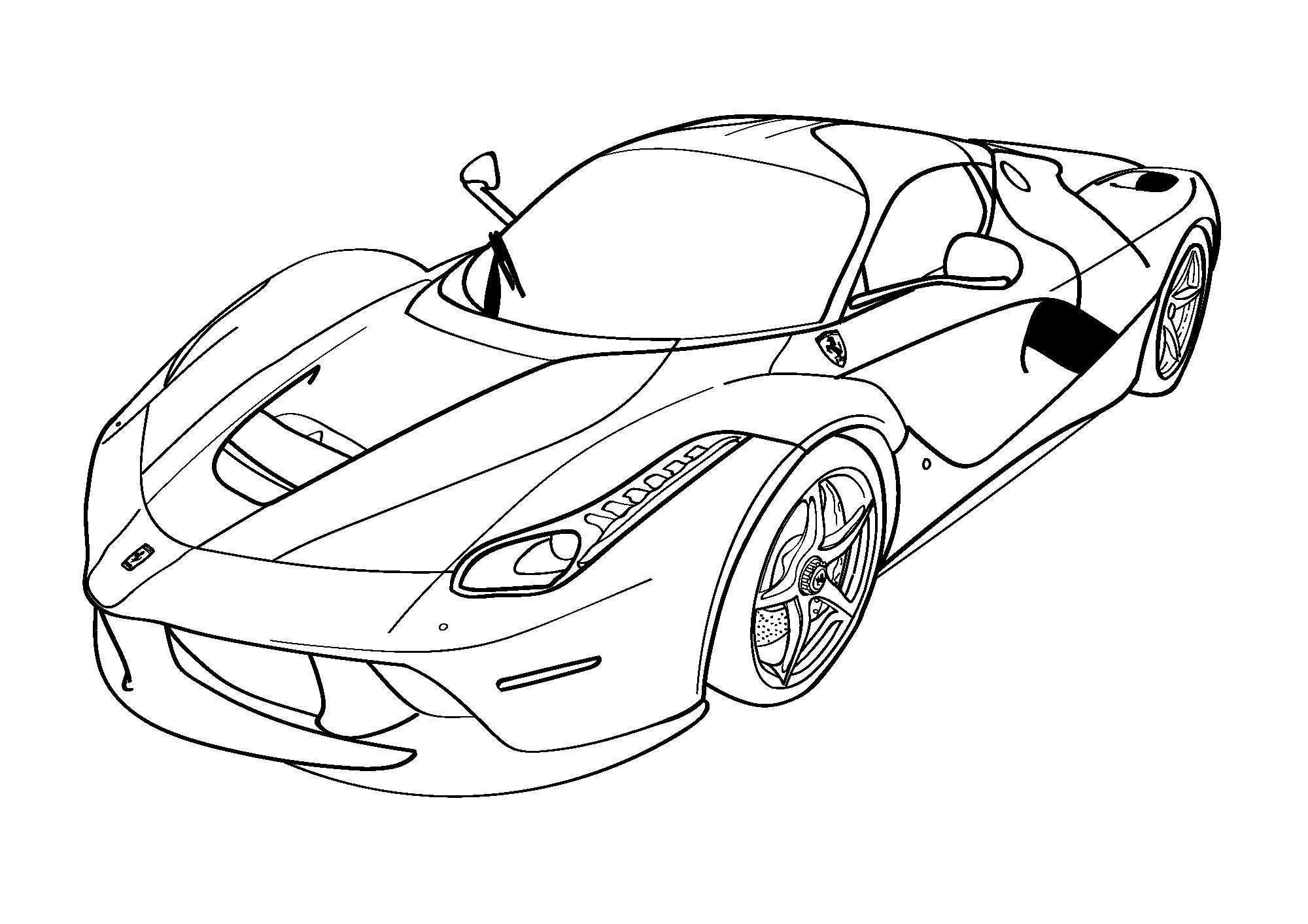 Fast And Furious Coloring Pages Ferrari Printable Shelter Ferrari Laferrari Boyama Sayfalari Spor Arabalar