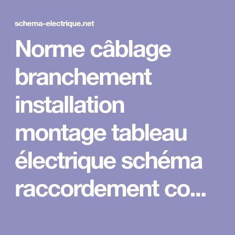 Norme câblage branchement installation montage tableau électrique - Schema Tableau Electrique Maison