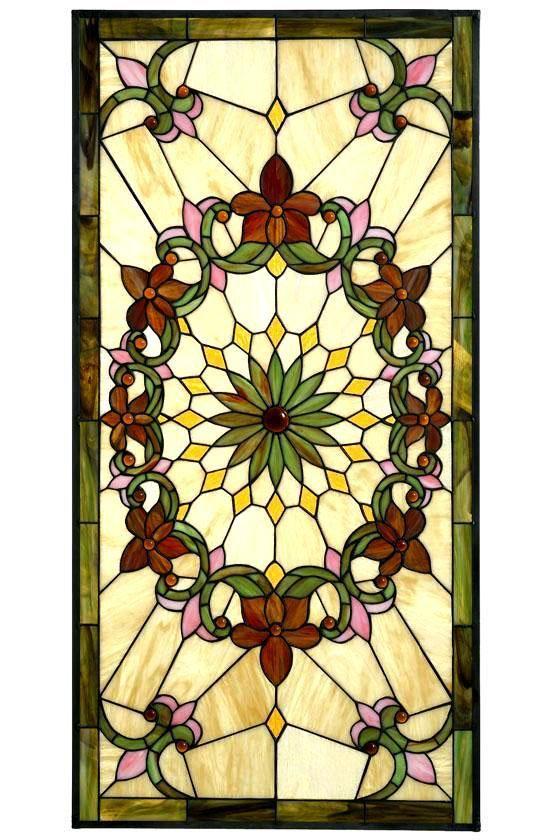 Solstice Large Rectangle Tiffany Style Art Gl Windows Home Decor Homedecorators