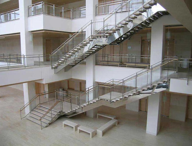 Best Straight Staircase Metal Frame Stone Steps With 400 x 300