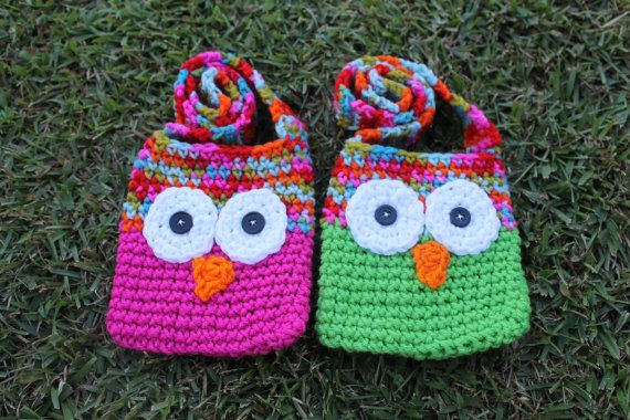 Pdf Pattern For Kids Crochet Owl Bags With Strap Easy To Follow