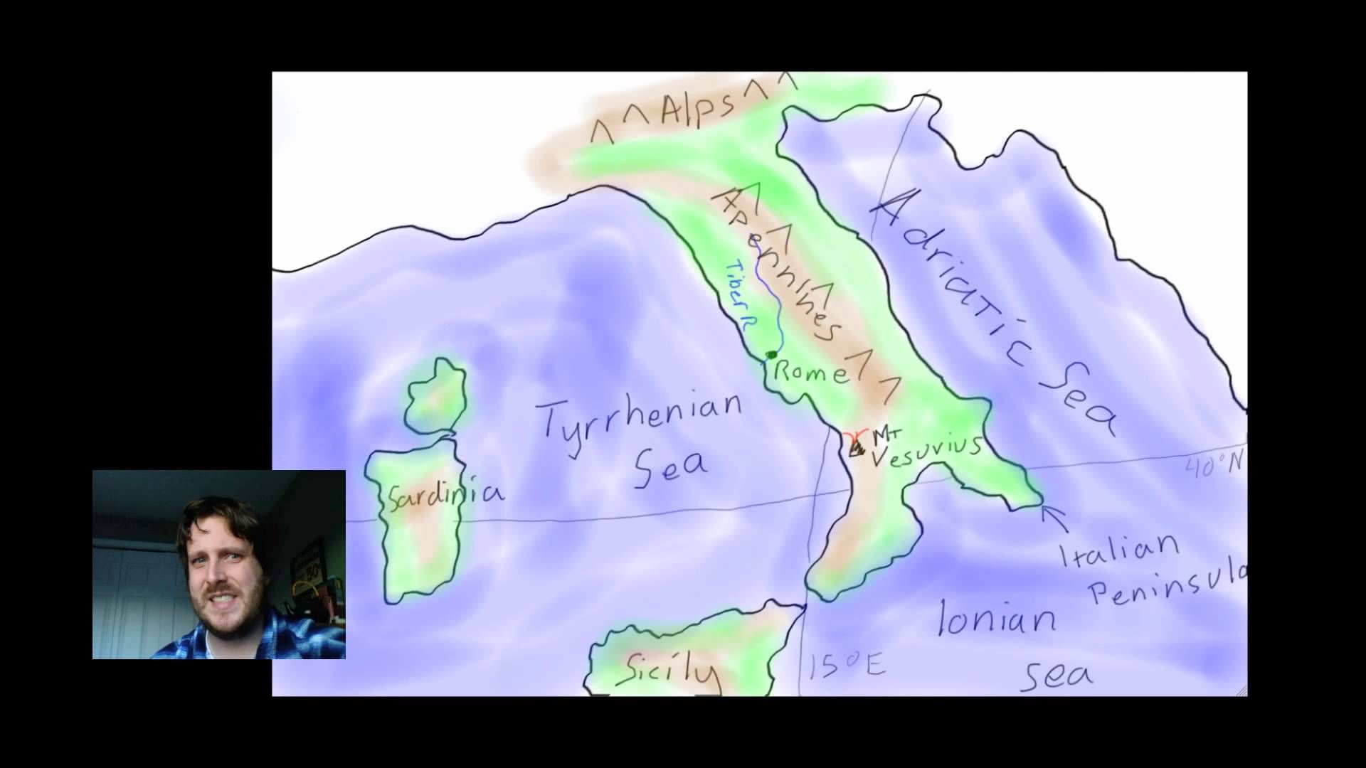 Where Mr Corwin Explains The Geography Of Rome While