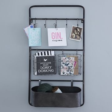 Storage just got stylish with this industrial metal wall unit ...
