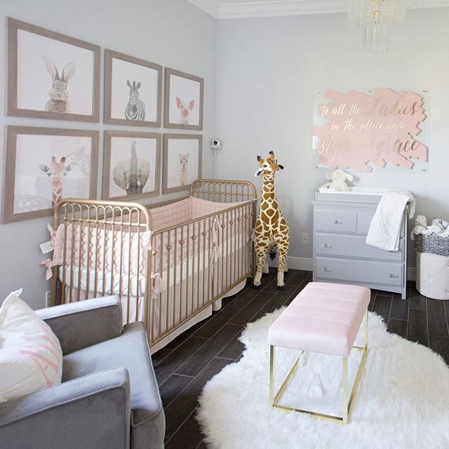 The Hallam Family Baby Room Ideas: ROOM GOALS. Loving This Chic Space For A Sweet Baby Girl