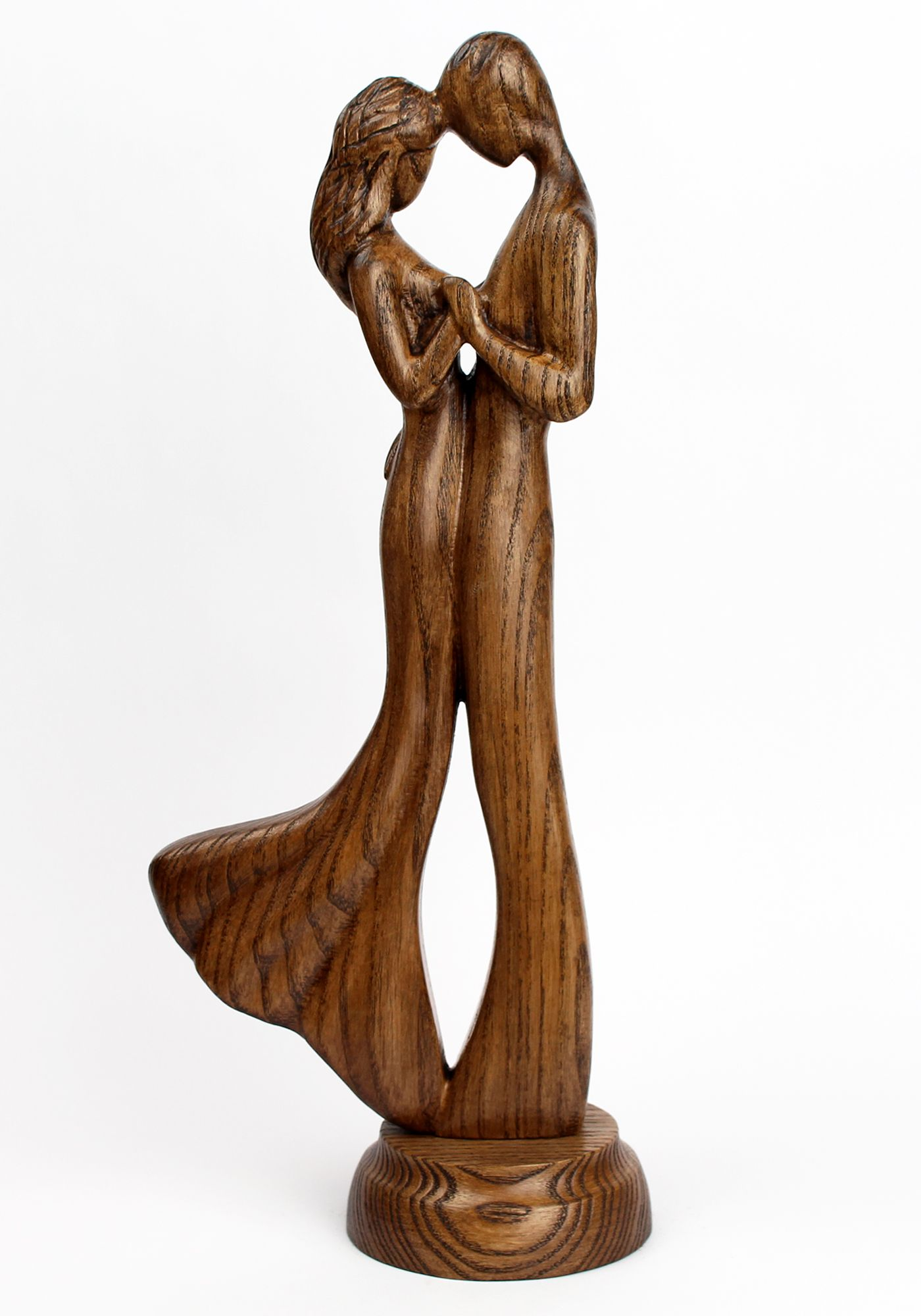 Family Figurine For Home Decoration By Woodsoulcarving Mom And Dad Sculpture Of Carved Wood For Interior De Wood Statues Wood Sculpture Carved Wood Sculpture