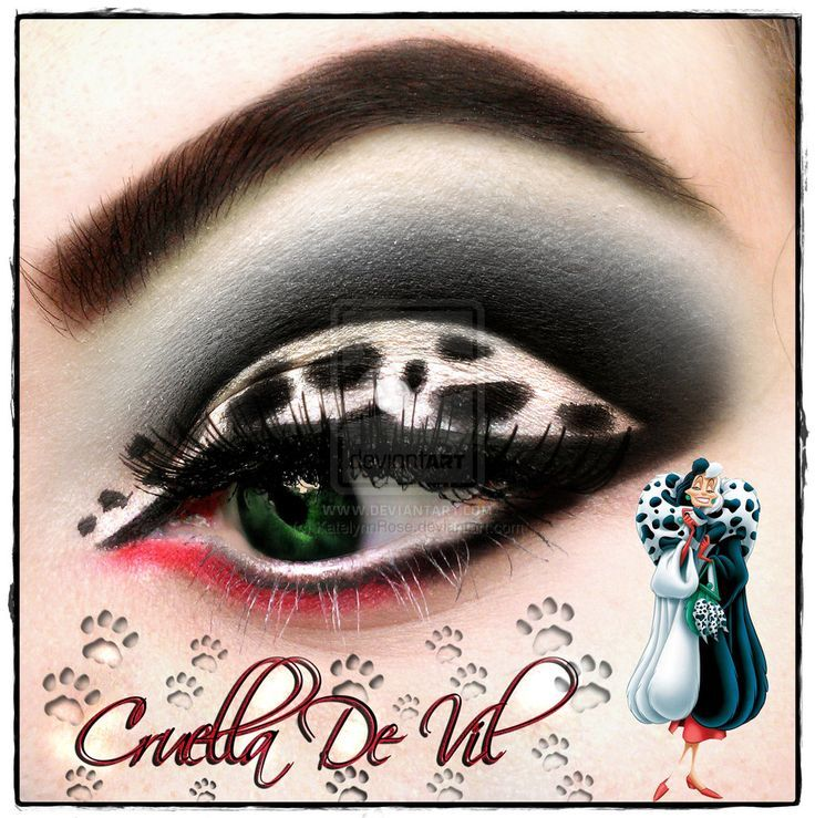 cruella de vil makeup | Cruella De Vil by KatelynnRose.deviantart.com on ... | makeup & nails