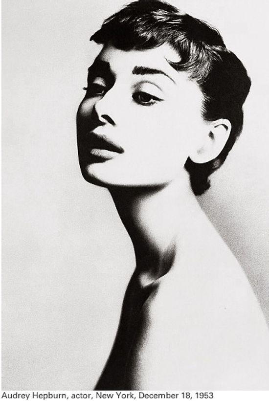 Audrey Hepburn portrait by Richard Avedon.