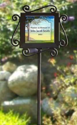 Nice Memorial Garden Stake