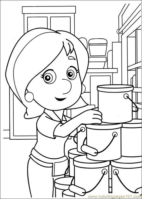 Disney Kelly Character Handy Manny Coloring Pages Handy Manny