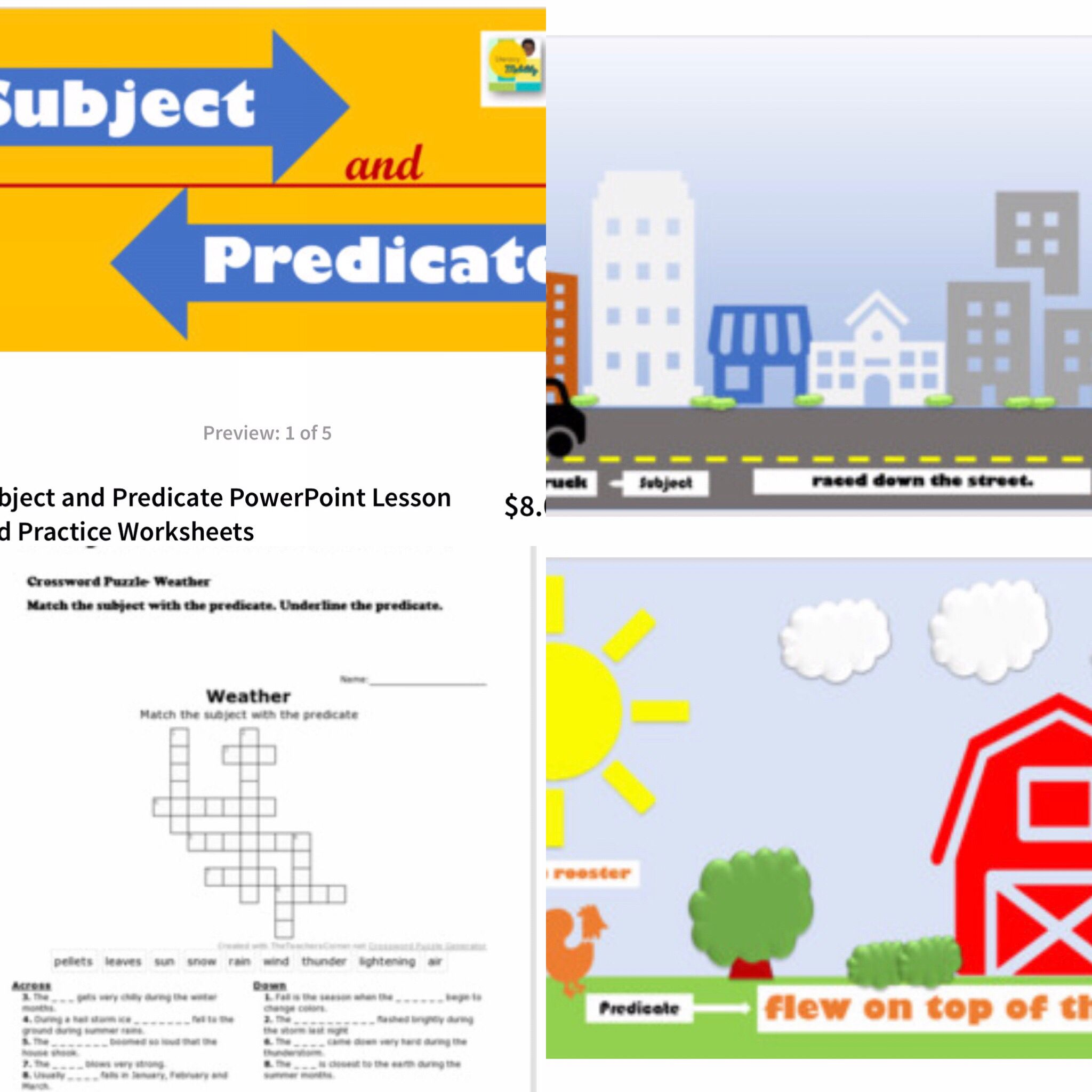 Use This Lesson On Subjects And Predicates As A Group Or