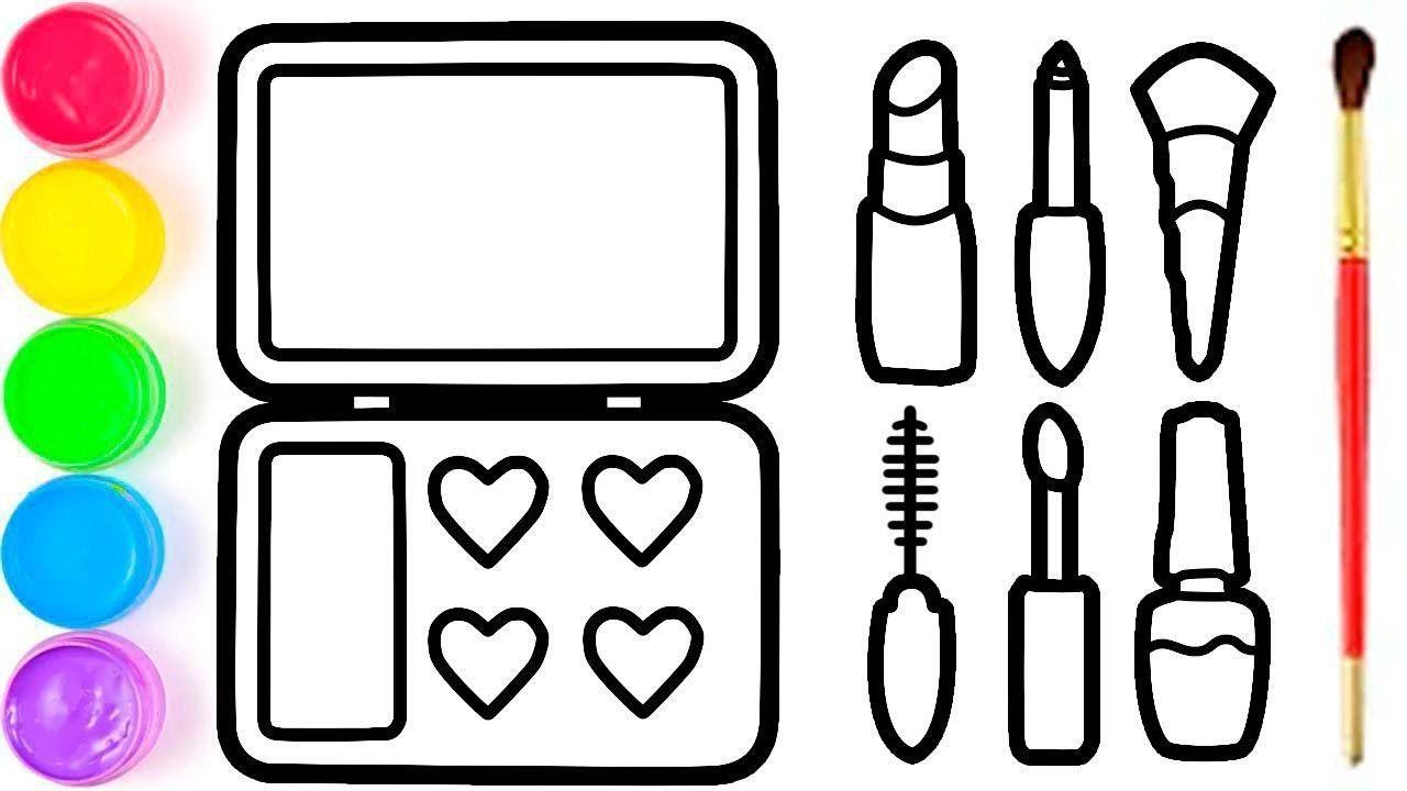 Pelajari Menggambar Dan Mewarnai Set Untuk Make Up Untuk Ana