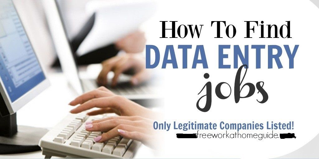 Data Entry Work at Home Jobs On this page, I have gathered