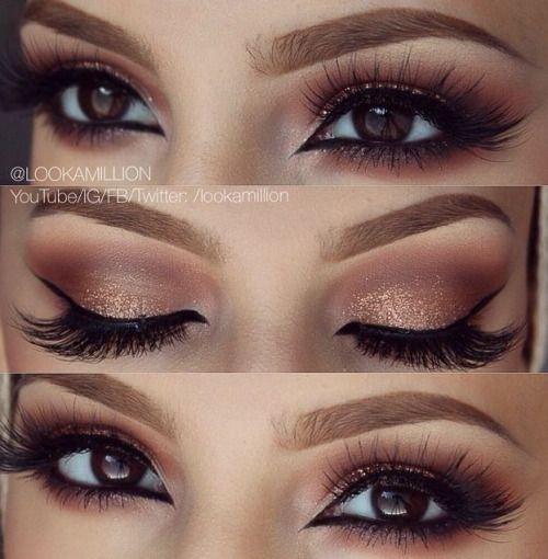 Braune Augen, Hochzeits Make Up Braune Augen Und