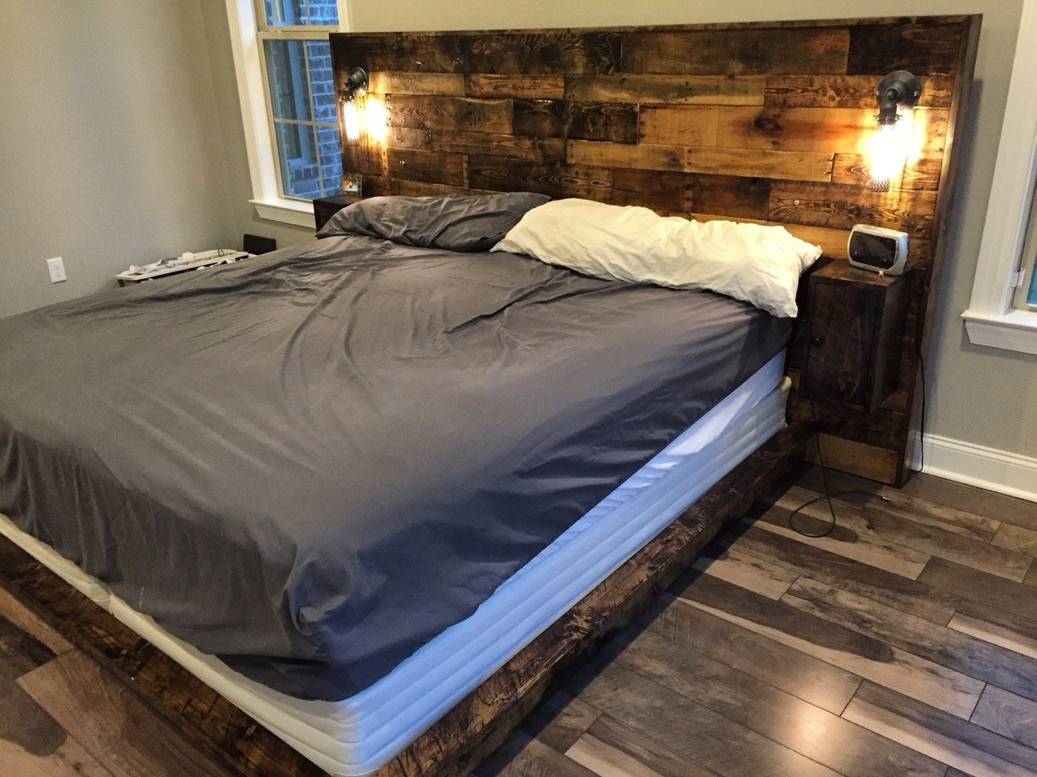 Rustic Wood Headboard, Distressed, Headboard, Reclaim