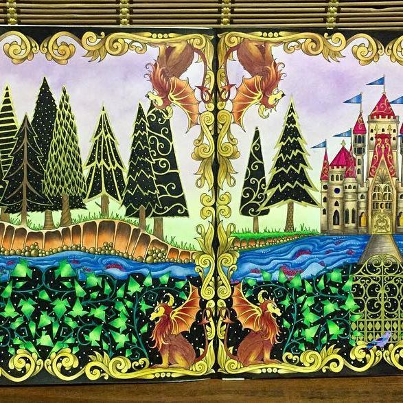 #johannabasford #secretgarden #secretgardencoloringbook @johannabasford #enchantedforest#lostocean