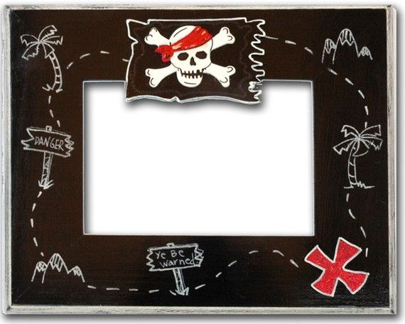 Pirate Treasure Map Picture Frame 5x7 | Pinterest | Map pictures ...