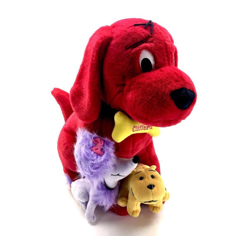 Clifford The Big Red Dog Plush Soft Toy Cuddly Teddy With Cleo